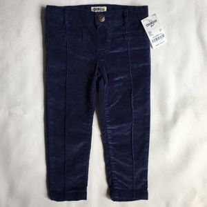 Girls pants size 2T NWT blue corduroy skinny Osh K